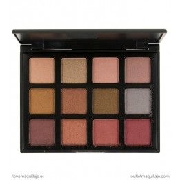 Paleta de 12 sombras Hot Blush Professional