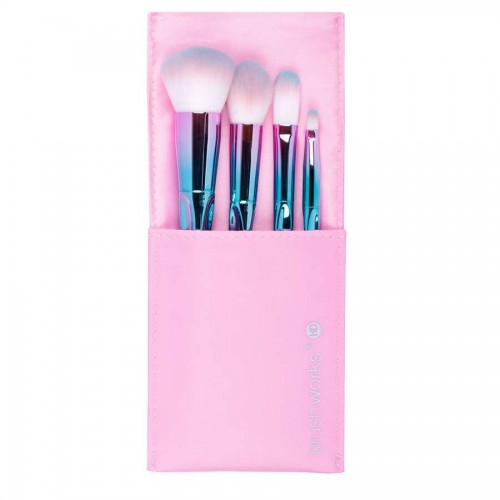 foto set de brochas para rostro hd brushworks unicorn