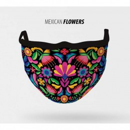 Mascarilla lavable Mexican Flowers S