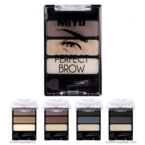 foto paleta de cejas perfect brow trio miyo