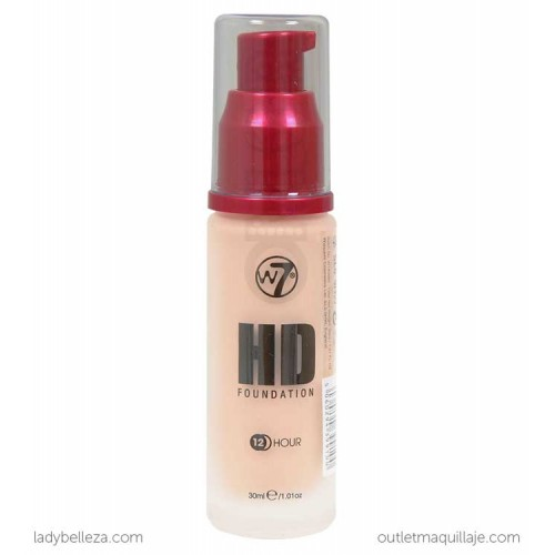 foto base de maquillaje hd foundation w7