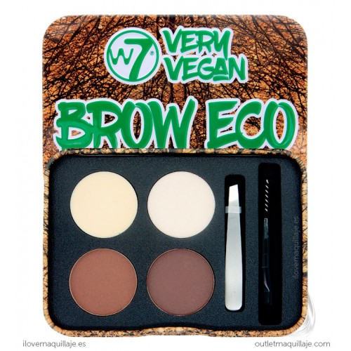 foto kit de cejas brow eco very vegan w7