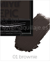foto gel de cejas epic brow pomade miyo 01 brownie