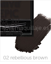 foto gel de cejas epic brow pomade miyo 02 rebellious brown