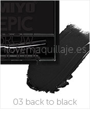 foto gel de cejas epic brow pomade miyo 03 back to black